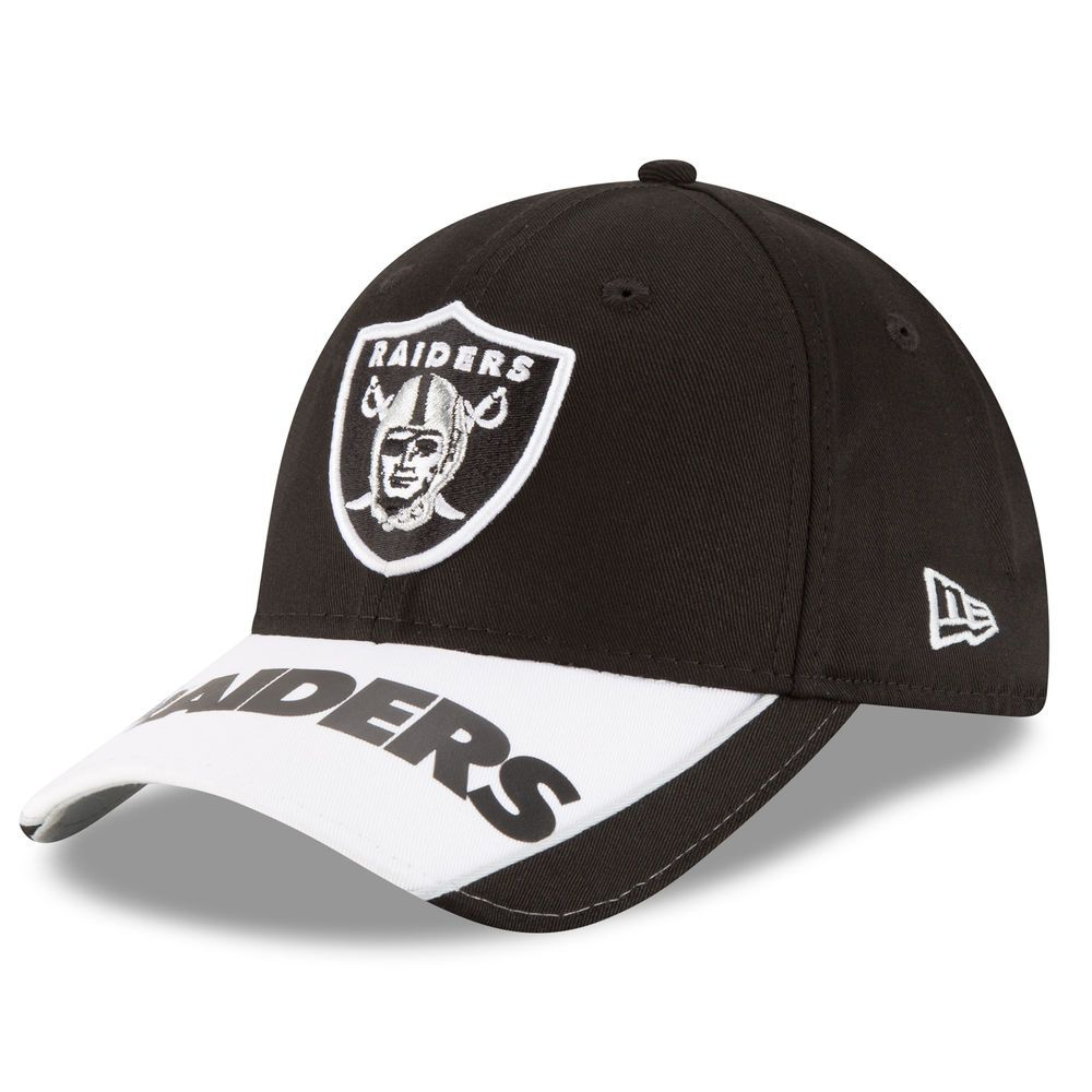 wholesale dealer d9fa1 65d71 Men s Oakland Raiders New Era Black Logo Scramble 9FORTY Adjustable Hat