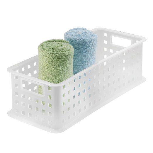 Amazon.com: InterDesign organizador del almacenaje de la cesta, para ...