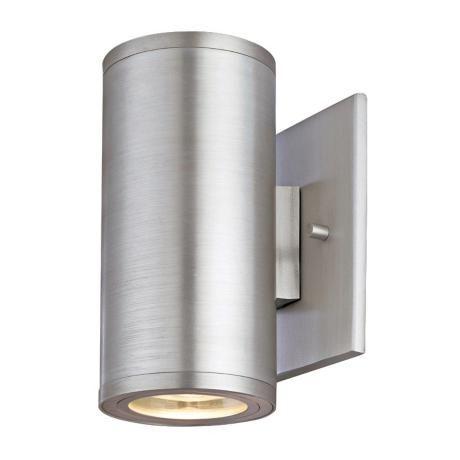 silo dual satin aluminum 6 1 2 high ada outdoor wall light