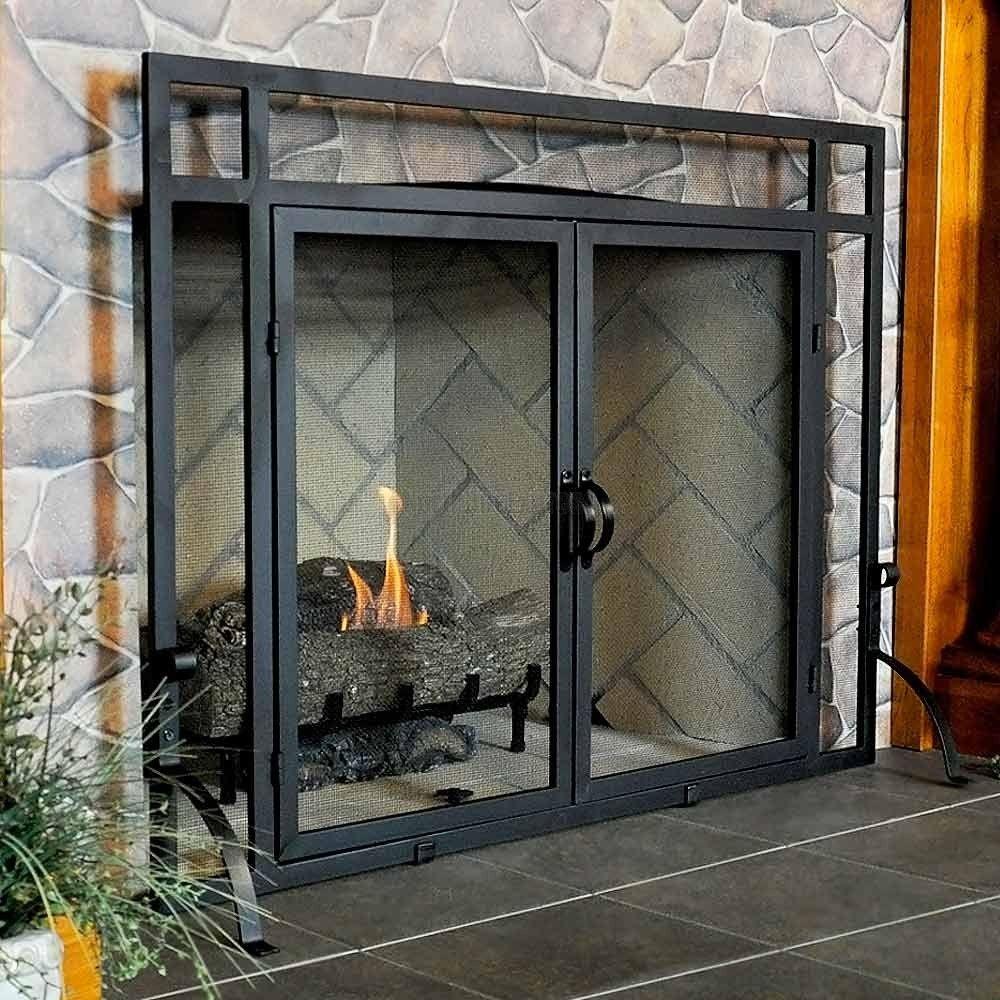 Timberline Glass Door Fire Screen Peis Hus