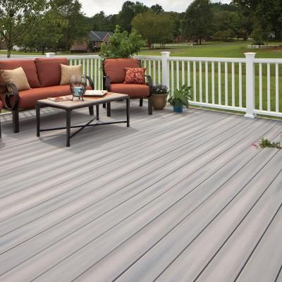 Veranda Armorguard 1 In X 5 1 4 In X 20 Ft Seaside Gray Grooved Edge Capped Composite Decking Board 10 Pack Brdvcg Composite Decking Deck Building A Deck
