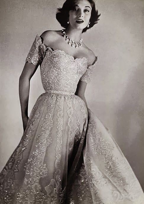 Vintage Chanel 1954 Wedding Gown