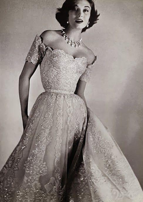 vintage chanel 1954 wedding gown wedding pinterest wedding