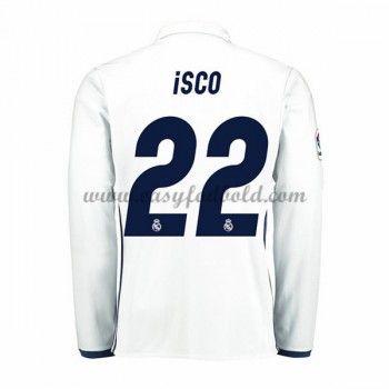 Fodboldtrøjer La Liga Real Madrid 2016-17 Isco 22 Hjemmetrøje Langærmede