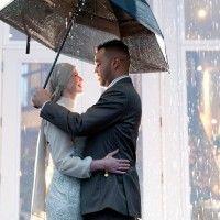 A gorgeous #photo in the #rain via #Halifax's Simply Weddings. #wedding #weddings