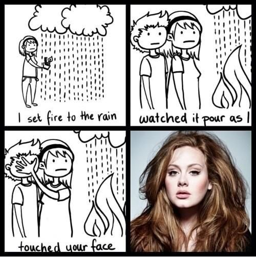Adele Set Fire To The Rain My Idol You Draw In This World