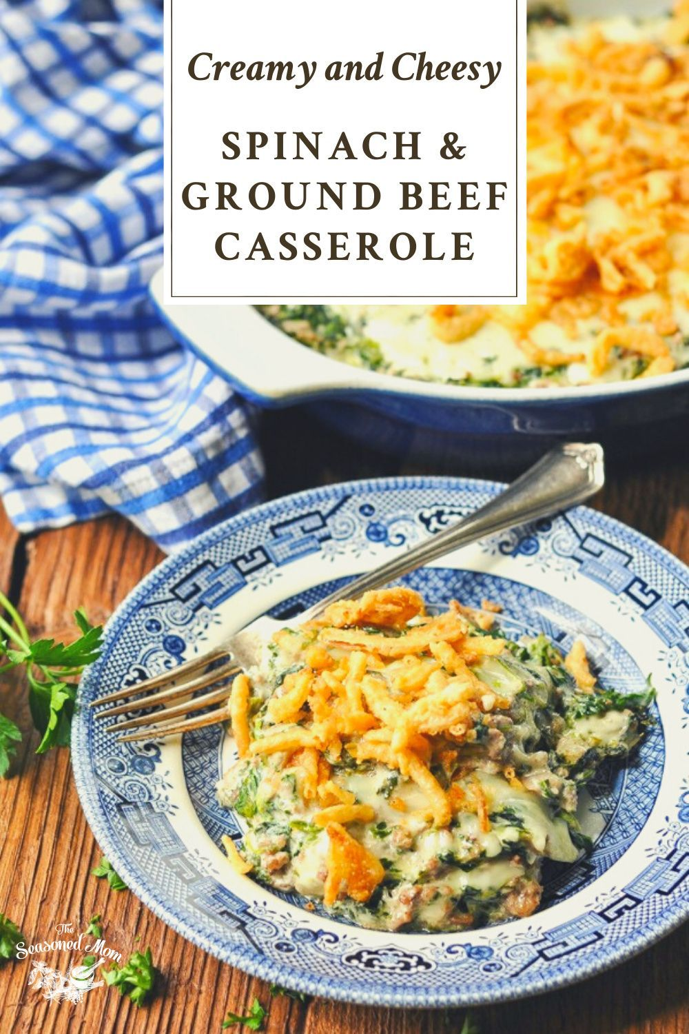 Spinach And Ground Beef Casserole Recipe In 2020 Ground Beef Beef Casserole Recipes Beef Casserole