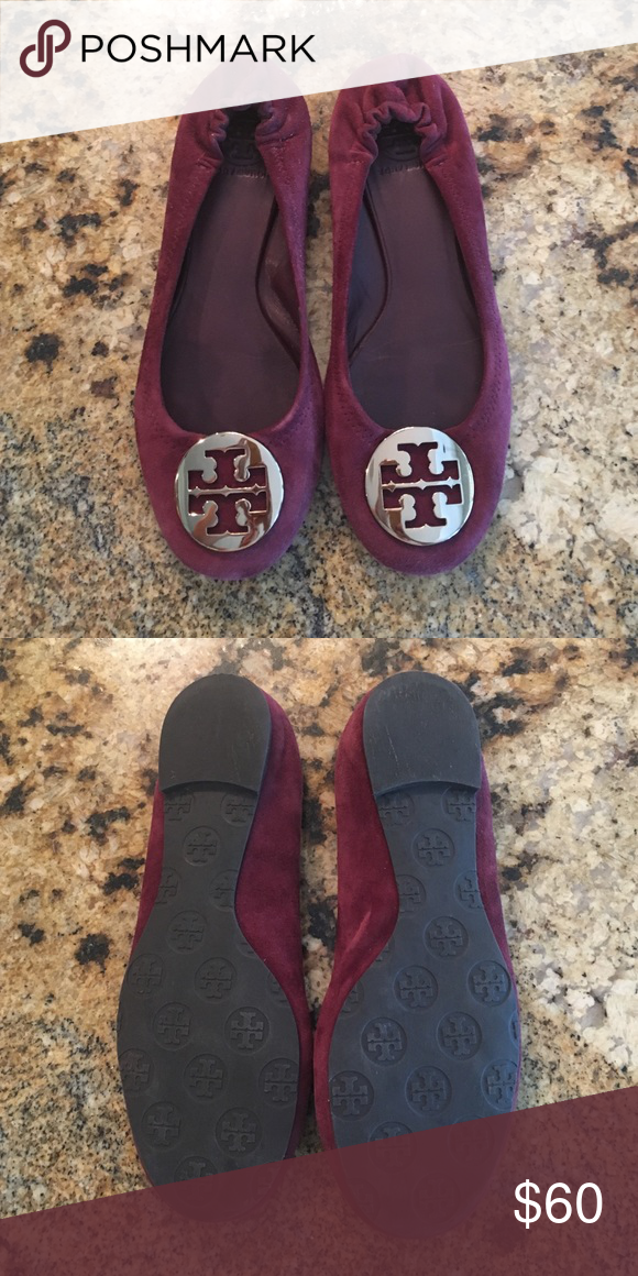 df1b23c6b1a Tory Burch shoes Burgundy suede classic Tory Burch flats only wore a couple  times. Tory Burch Shoes Flats   Loafers
