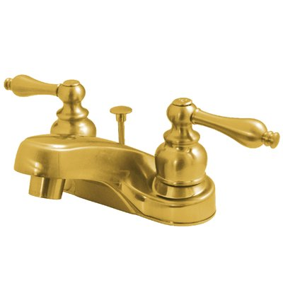 Elements Of Design Centerset Bathroom Faucet With Drain Assembly