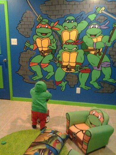 Ninja Turtles Slaapkamer.Ninja Turtle Room Idea Ninja Turtles Ninja Turtle Room Ninja