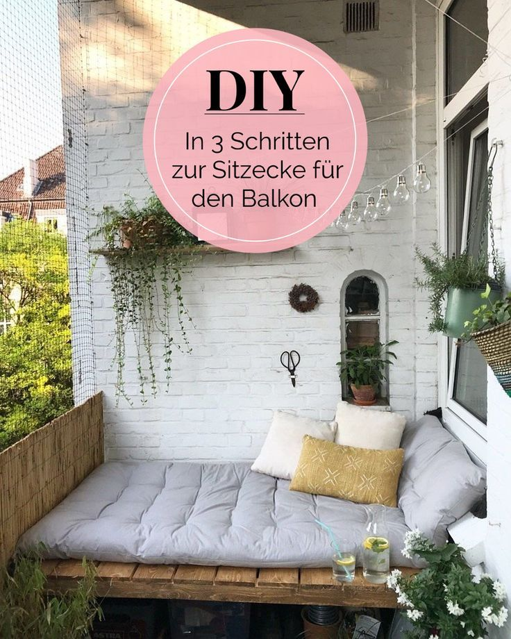 Photo of DIY instructions: in 3 steps to the dreamlike seating area on the balcony of le.lolie