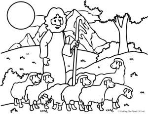 The Good Shepherd Lost Sheep Coloring Page