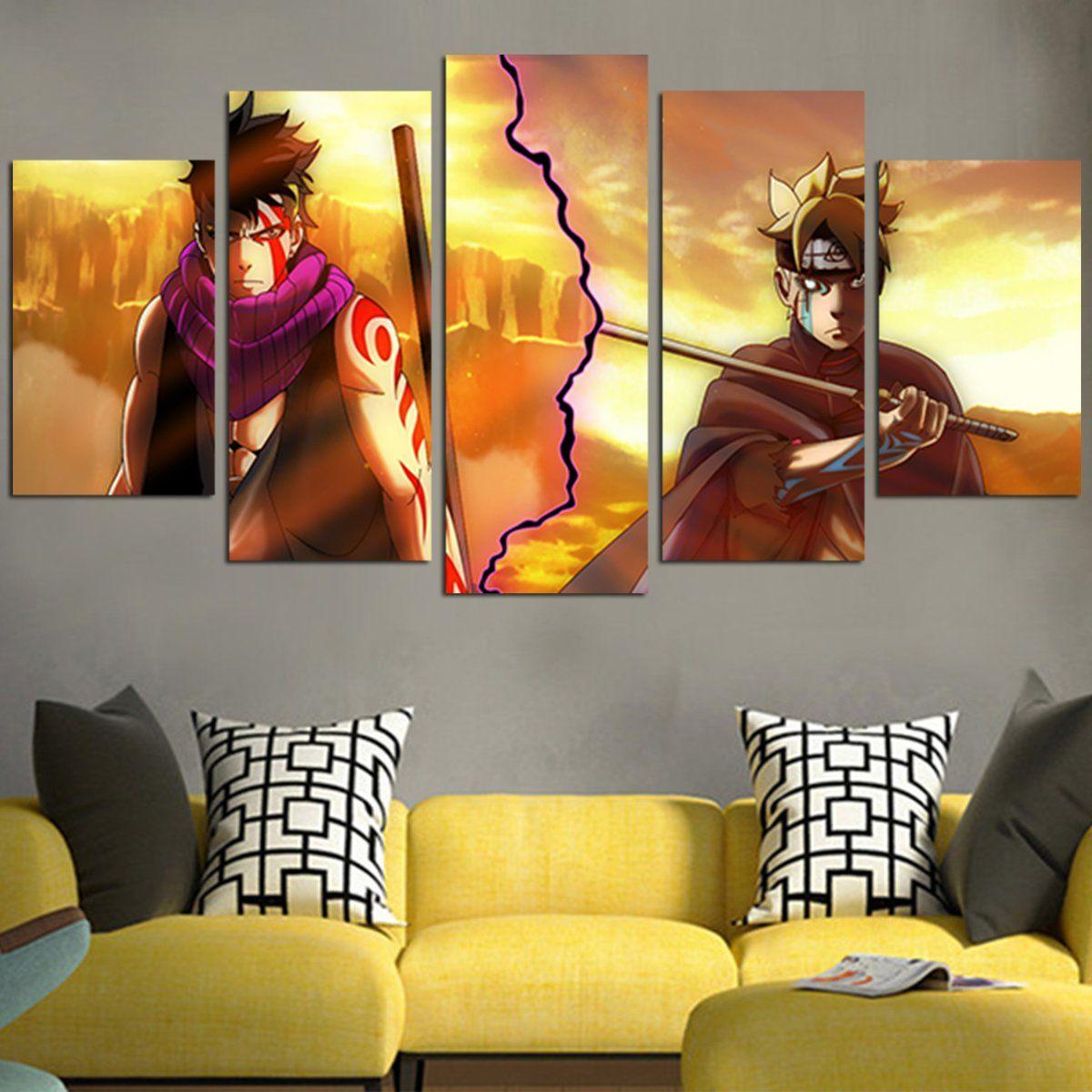 Boruto Vs Kawaki Wall Art Canvas Canvas wall art