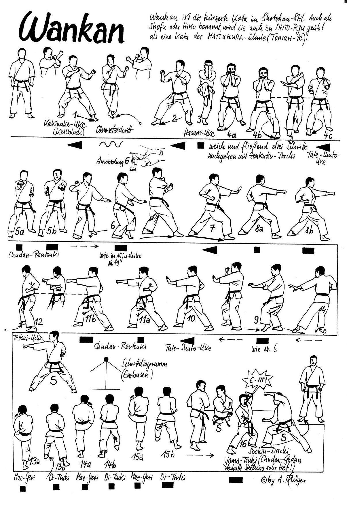 martial arts diagram guitar wiring creator shotokan katas pinterest