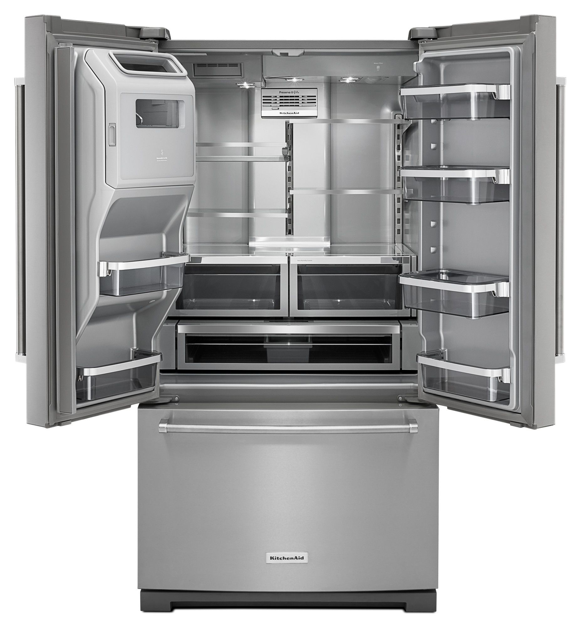 kitchenaid appliances sears kitchenaid krff707ess 268 cu ft french door refrigerator stainless steel sears outlet