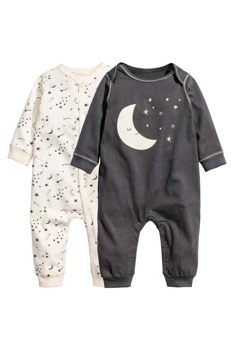 Lot de 2 pyjamas en jersey - Gris foncé lune -  93e5b5a7f54
