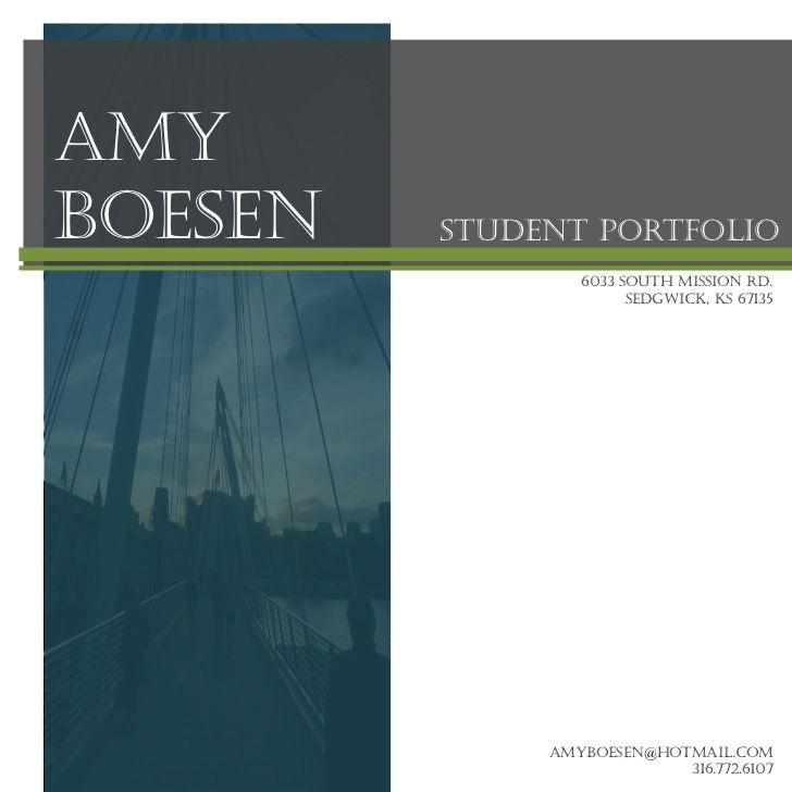 professional portfolio cover page - Google Search Portfolios - professional cover page