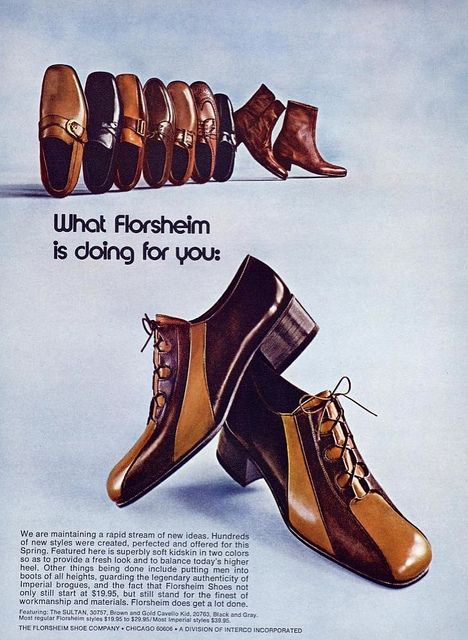 vintage everyday: Retro Shoe Adverts, 1960s 70s Skoannonser  Shoes ads