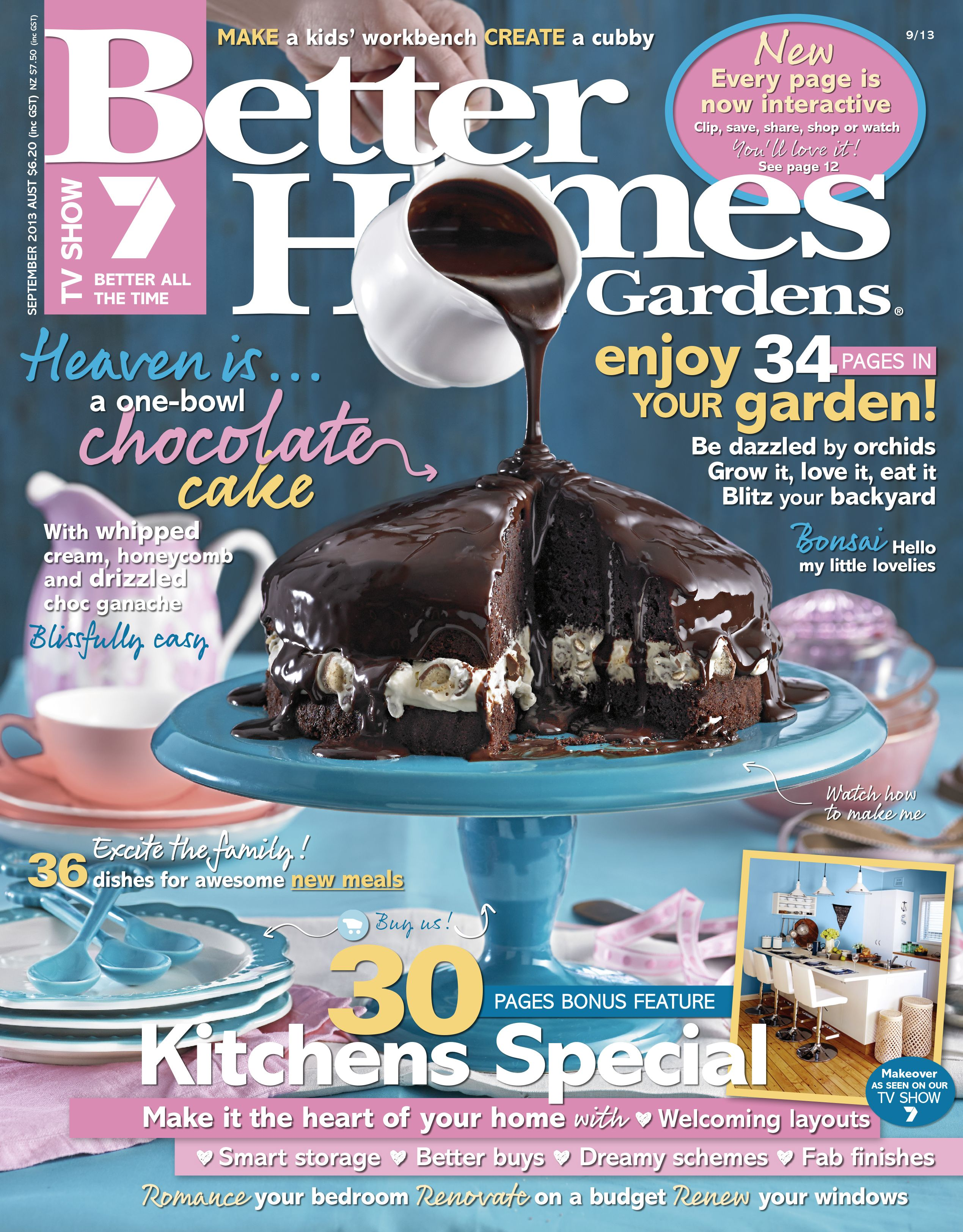 Better homes gardens september 2013 magazines Yahoo better homes and gardens