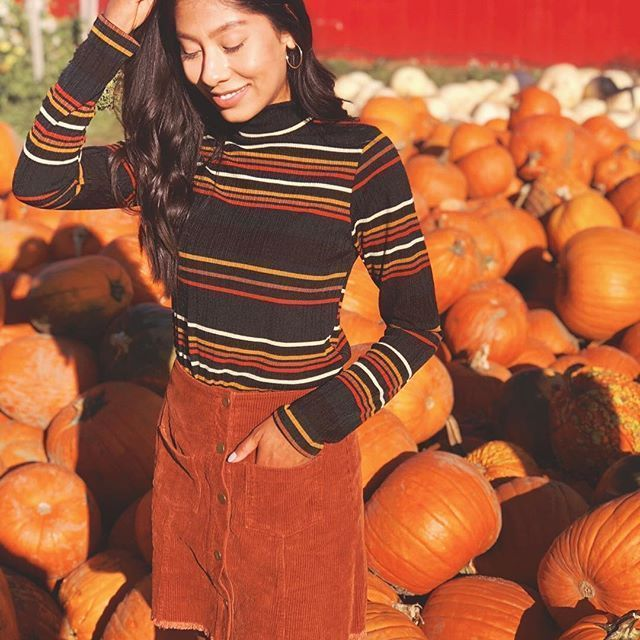 Trying to find that perfect pumpkin ???? patch outfit? Go to shopterracotta.com! Striped Top-$38Corduroy Skirt- $43...#corduroy #corduroyskirt #stripes #pumpkinpatch #pumpkinpatchoutfit #orangestory #pumpkinpatch2018 #boutiqueshopping #onlineboutique #pnwfashion #pnwfall #falloutfit #fallstyle #naturecolors #fallfashion #bohoboutique #bohostyle #ootd #overthekneeboots #bohovibes #styleinspo #fallskirt #falltrends #shoplocal #pumpkinpatchoutfit Trying to find that perfect pumpkin ???? patch outfi #pumpkinpatchoutfitwomen