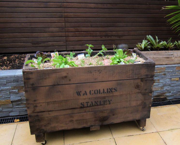 Rustic Recycled Fruit Crate Planter Box Raised Veggie Gardens Plants Pots Gumtree Australia Darebin Area Garden Plant Pots Plants Raised Veggie Gardens