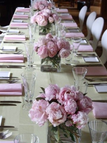 Tischdeko mit pfingstrosen mama geburtstag pinterest for Pfingstrosen dekoration