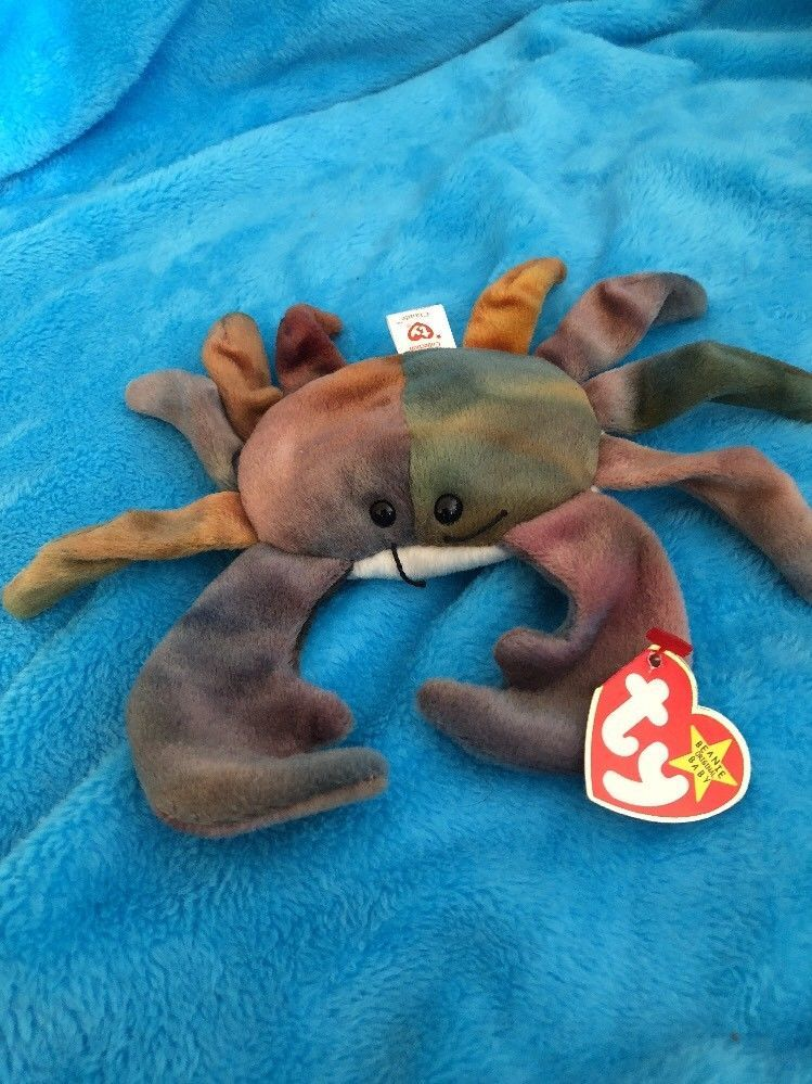 Authentic Rare TY Beanie Baby CLAUDE The Crab  35da3b42738