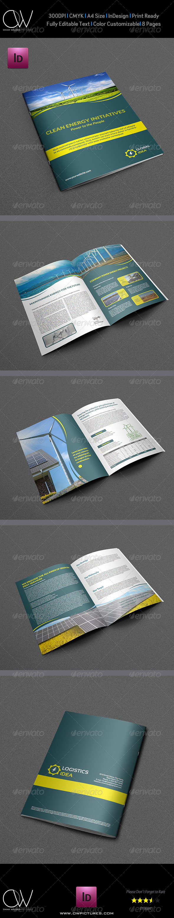 Power Energy Services Brochure Template - 8 Pages - Brochures Print ...
