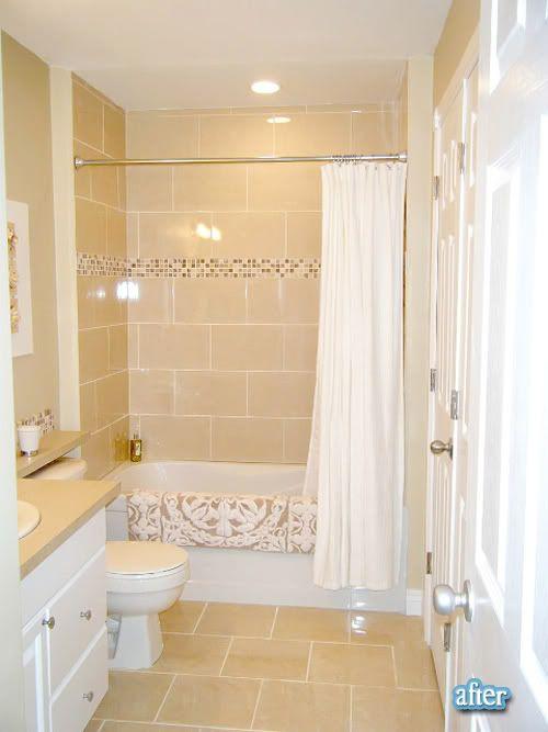 beige tile bathroom