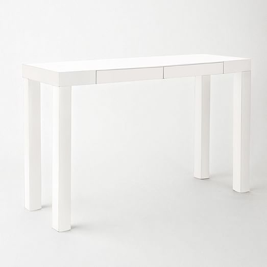 Parsons Console White west elm If we use these would two fit