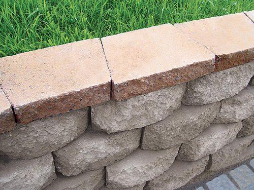 Retaining Wall Cap At Menards Landscape Materials Outdoor Landscaping Retaining Wall Pavers