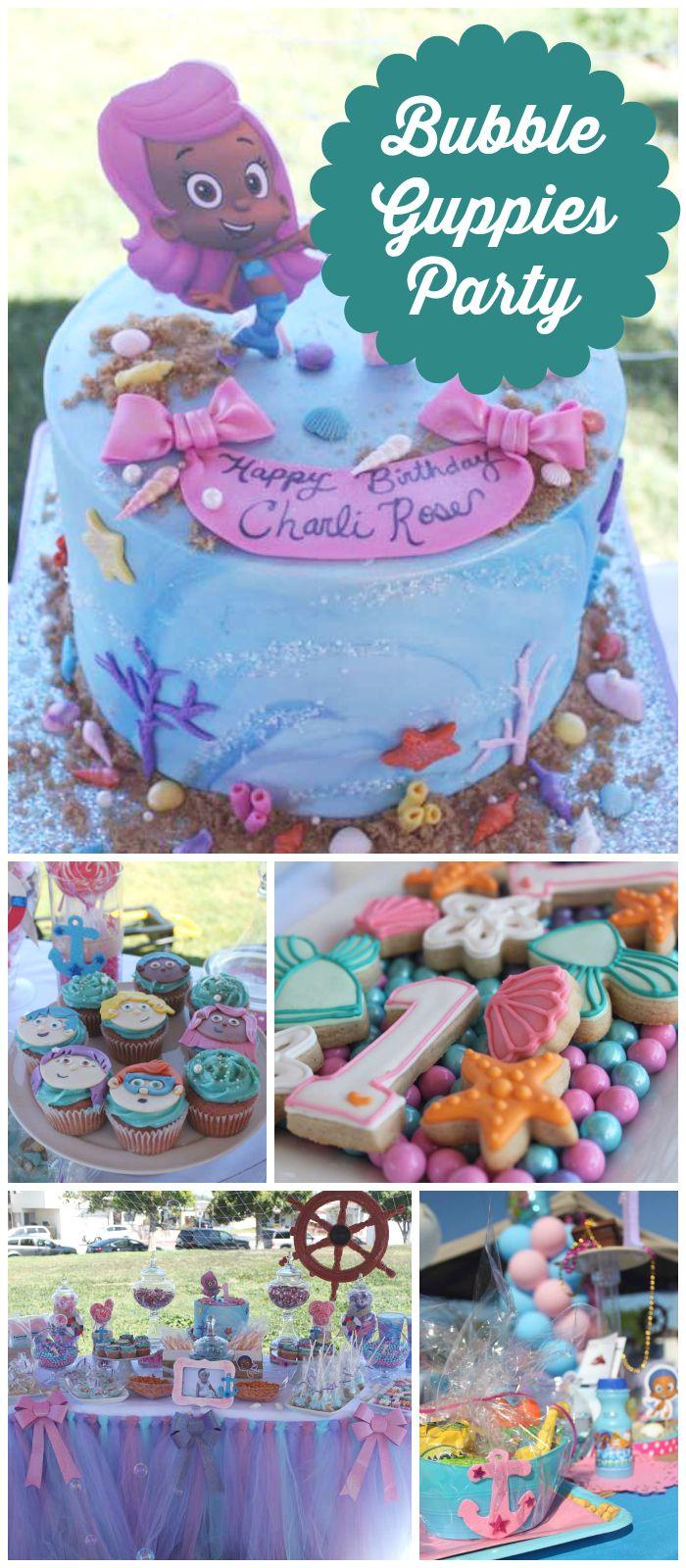 Bubble Guppies Birthday Charli Rose S 1st Birthday Catch My Party Bubble Guppies Birthday Bubble Guppies Party 2nd Birthday Party For Girl