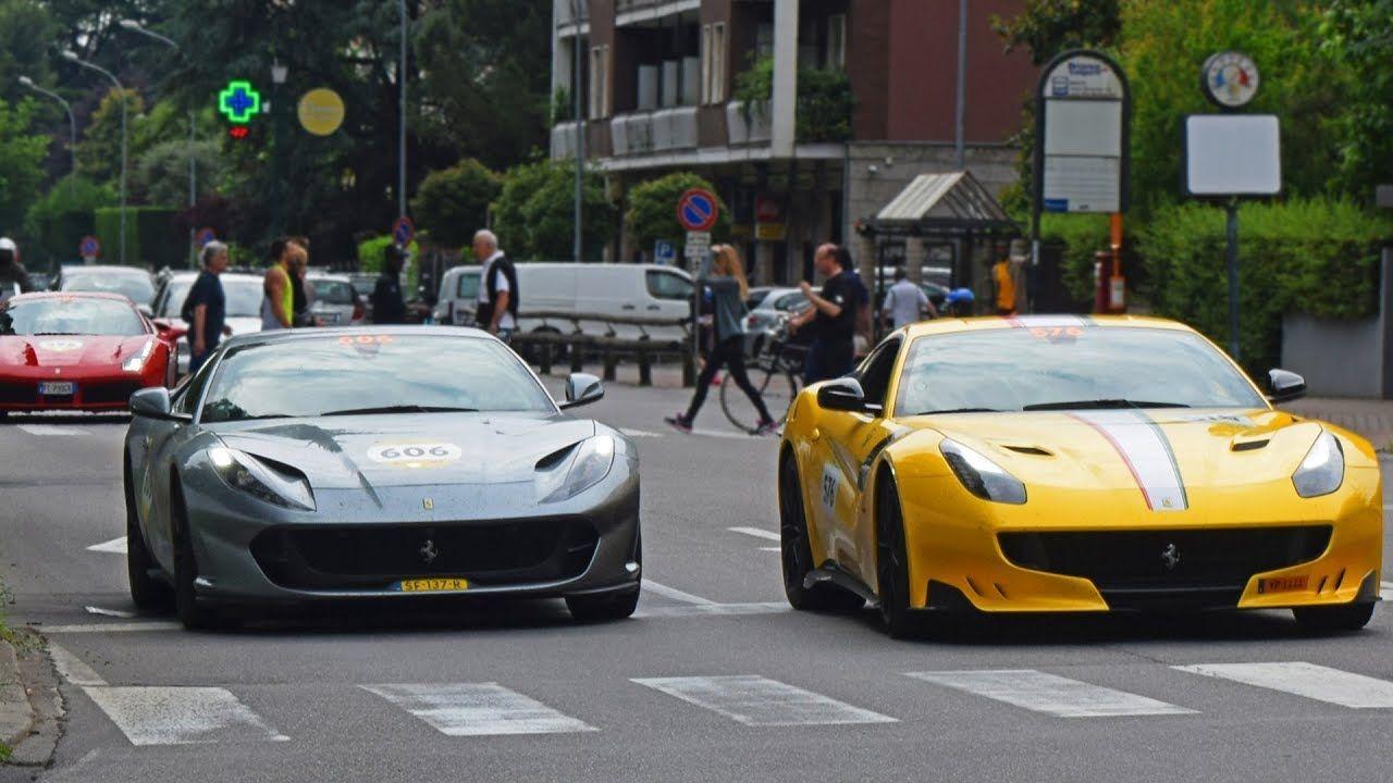 1000 Miglia 2018 Ferrari Tribute 4 Ferrari F12 Tdf 812 Superfast 59 Super Cars Ferrari F12 Tdf Car Ride