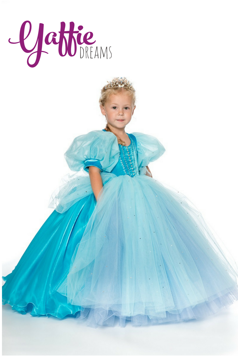 0fb602db6 Classical Disney princess Cinderella dress Halloween costume kid ...