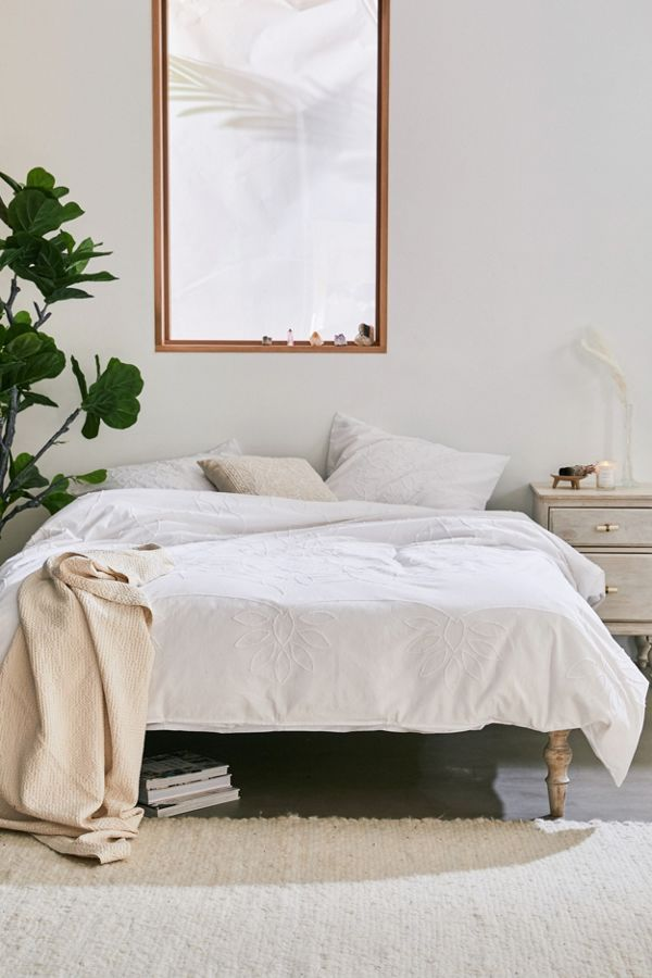 Danish Modern Bedroom Furniture: Celeste Tufted Medallion Duvet Cover