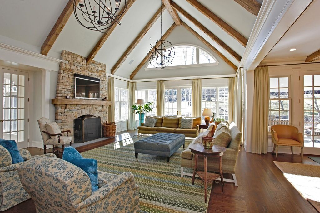 High Vaulted Ceiling Lighting Ideas For Living Rooms With
