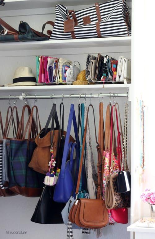 Besthandbagstorageideas Closet Pinterest Purse Storage Organization And
