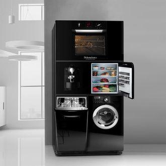Goliath 3000 Tout En Un Refrigerateur Four Lave Linge Lave Vaisselle Delamaison Meuble Angle Cuisine Meuble Micro Onde Meuble Cuisine