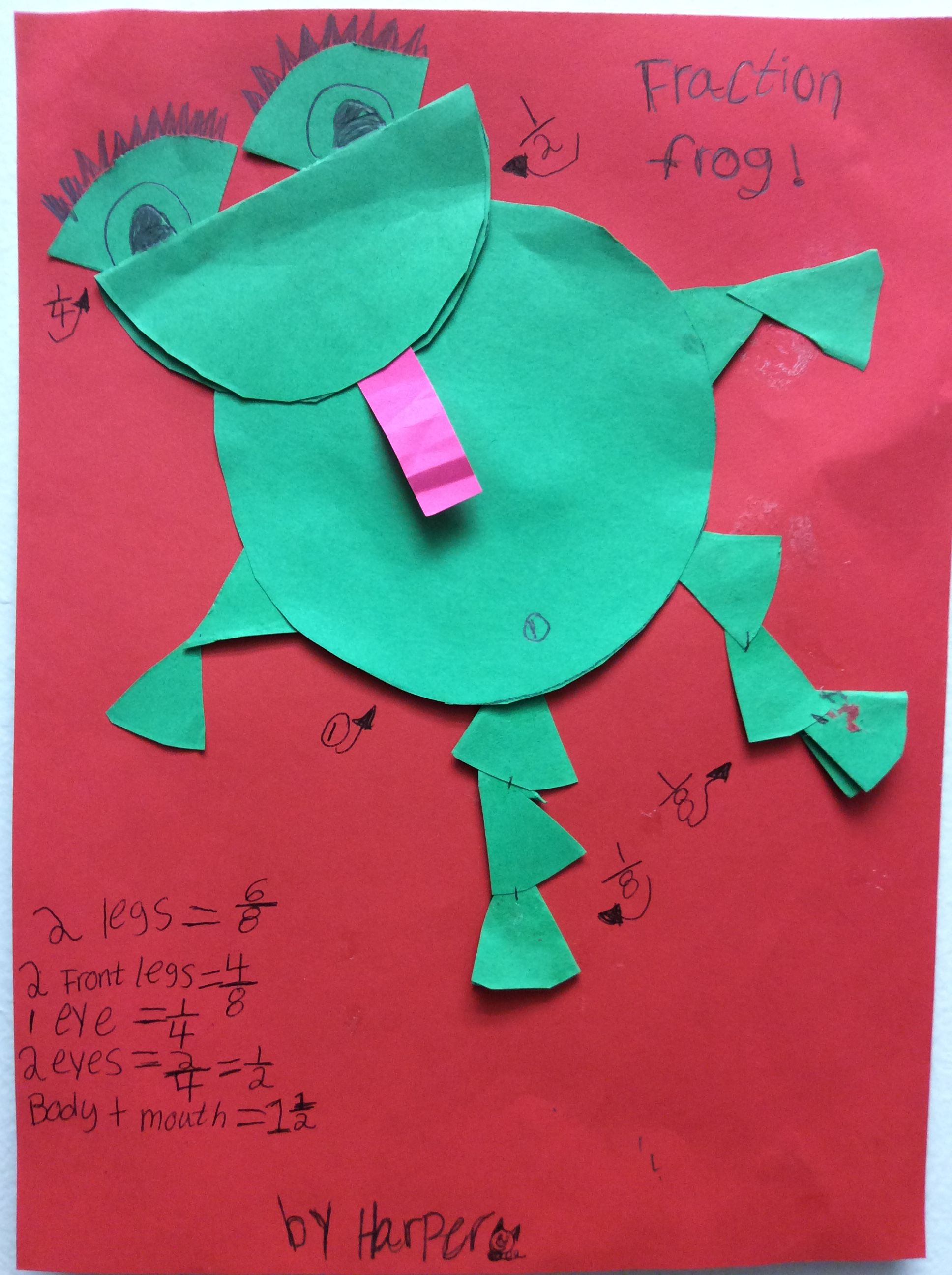 Fraction Frog So Cute Math Fractions Parcc Fractions Kids Learning [ 2592 x 1936 Pixel ]