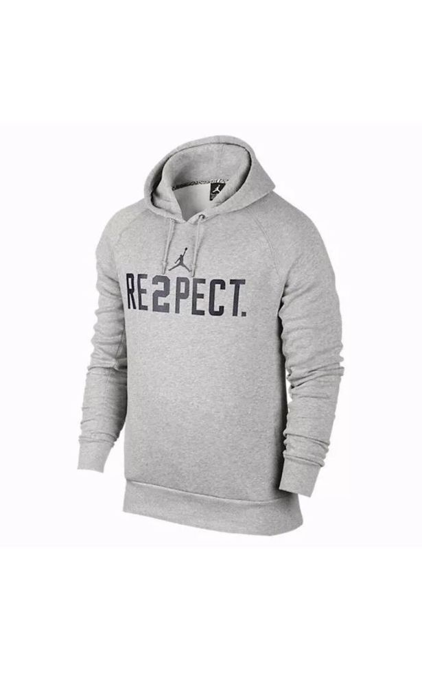 the best attitude cdc1d 7b3d3 Nike Air Jordan RE2PECT Derek Jeter Yankees Hoodie Gray ...