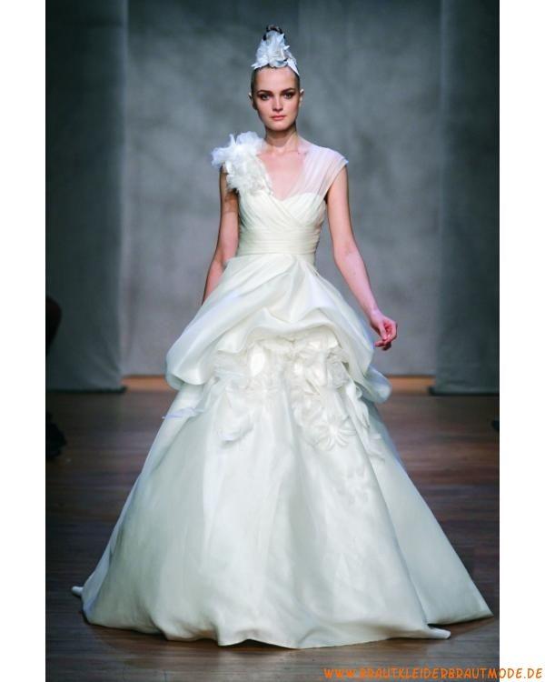 2013 Wunderschöne Brautmode aus Organza mit Feder für Prinzessin ...