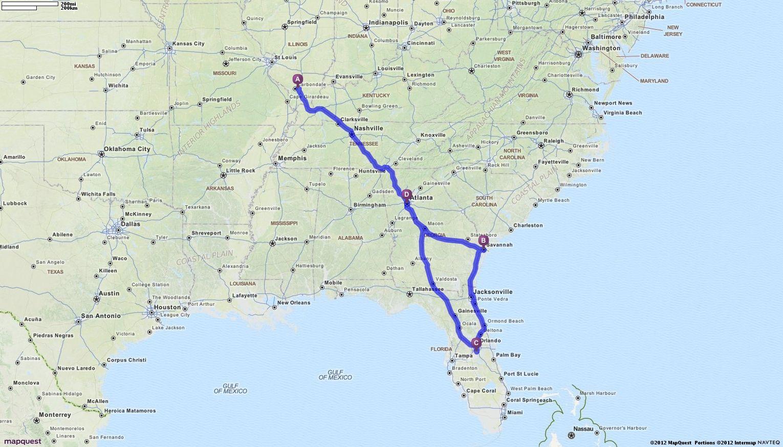 Driving Directions From Carterville Illinois To Atlanta Georgia - Atlanta georgia mapquest