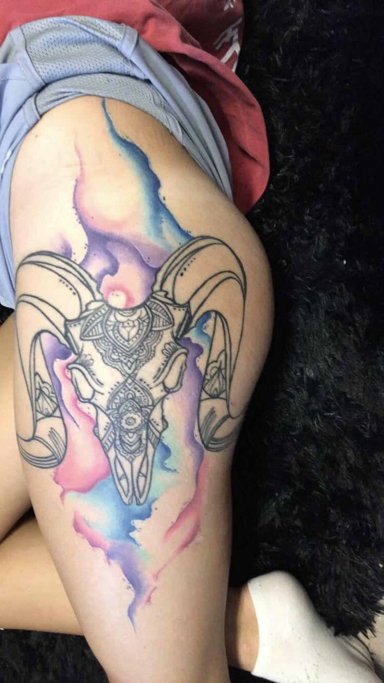 Image result for aries tattoo watercolor