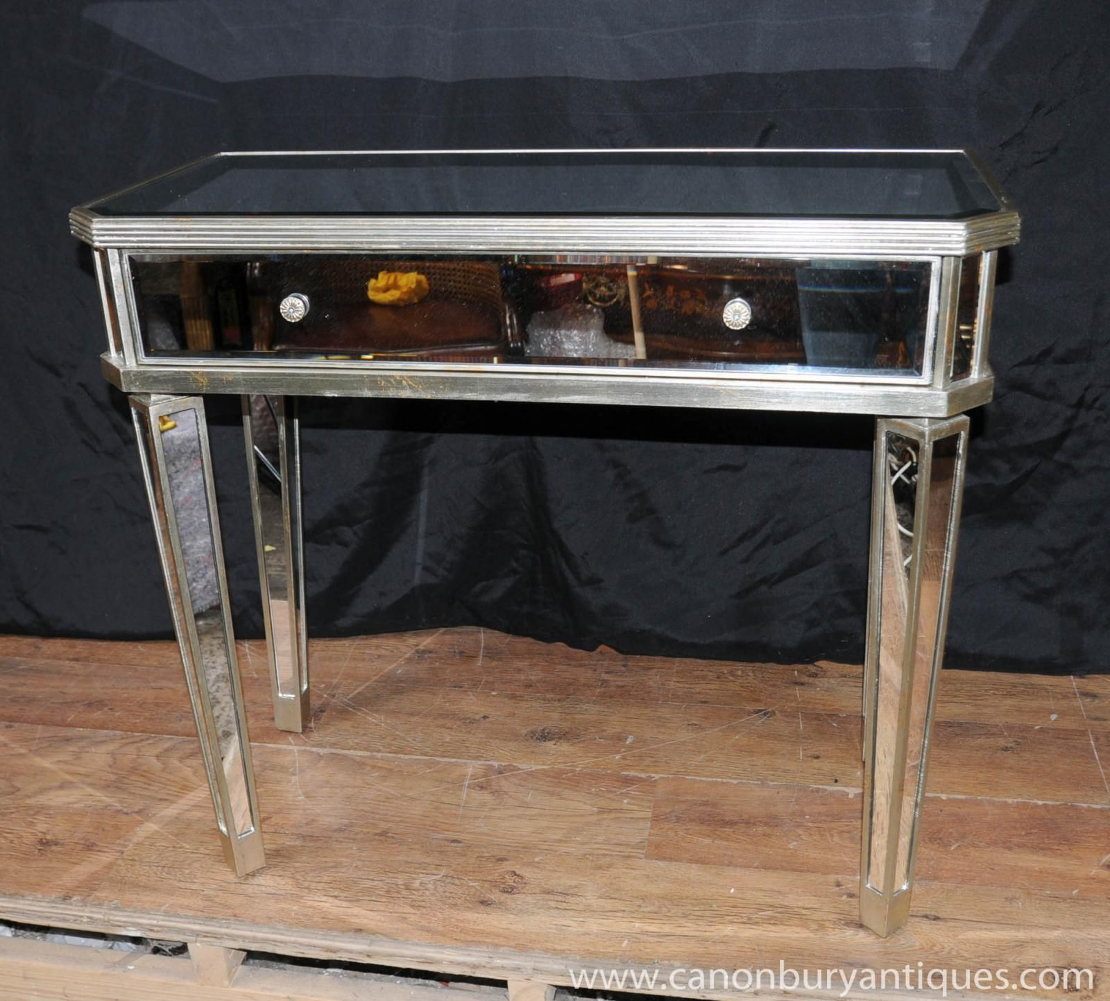 Mirrored Hall Console Table Side Tables Mirror Deco Furniture