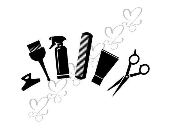 Hair Salon Accessories Beauty Shop Scissors Brush Clipper Dryer Fashion Mirror Svg Eps Png Vecto Beauty Shop Fashion Mirror Hair Salon