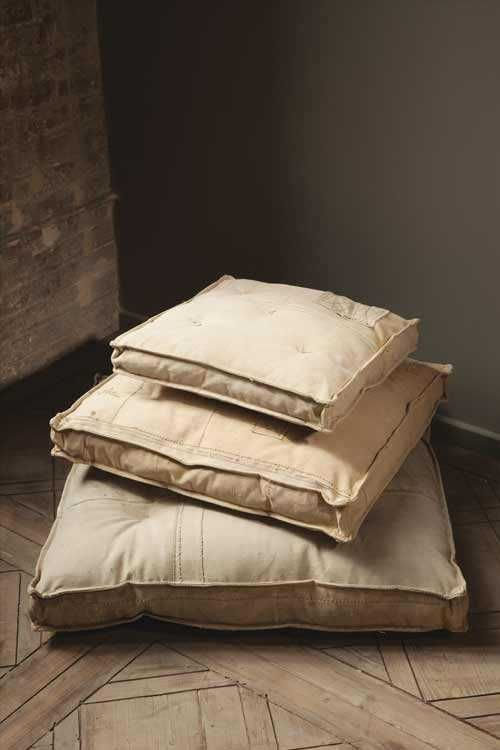 Recycled Canvas Box Cushions Diy For Dining Room Bench Using Memory Foam