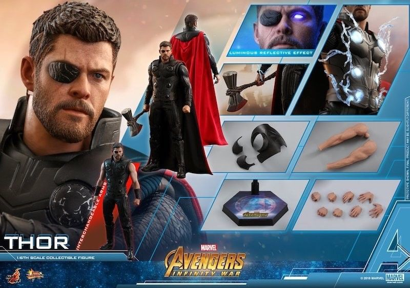 Hot Toys Thor Infinity War Mms474 Sideshow 1 6 Scale New Avengers