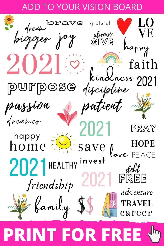 44 Inspiring Vision Board Printables + Vision Boar