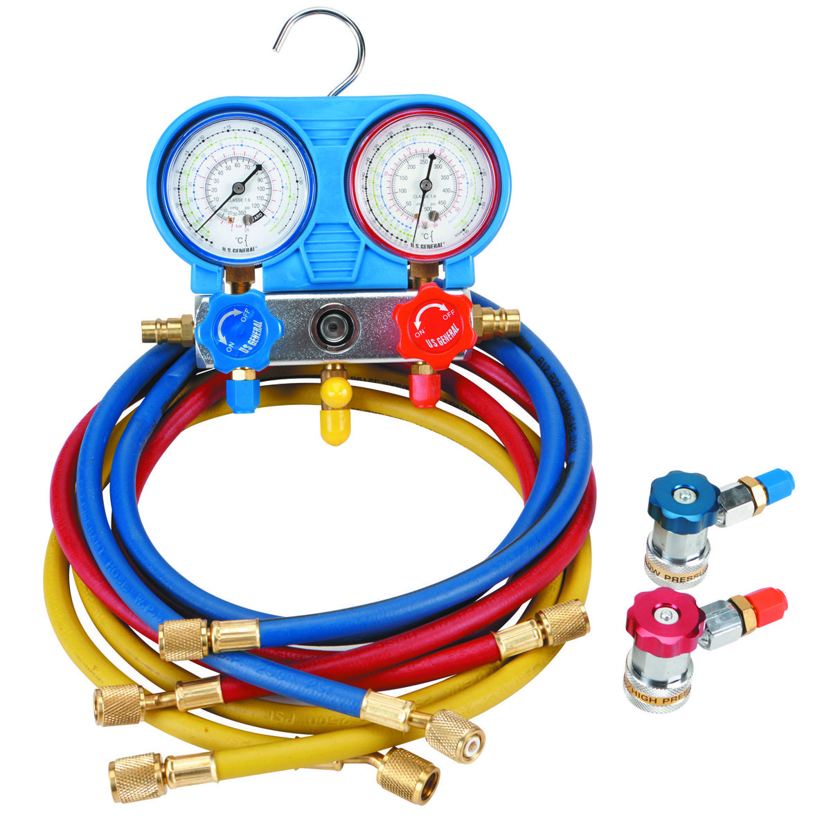 A C R134a Manifold Gauge Set Refrigeration And Air Conditioning Car Air Conditioning Vacuum Pump
