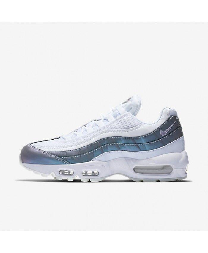 2e54635b5b94d5 Nike Air Max 95 Mens Premium Glacier Blue White Stealth Palest Purple Shoes  Outlet